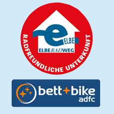 bett + bike; radfreundliche Unterkunft am Elberadweg