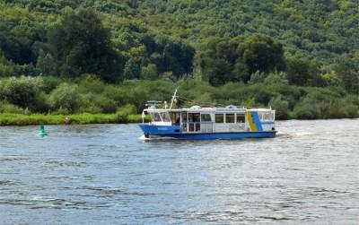 Fährschiff Bosel von Radebeul über Coswig (Sörnewitz) nach Meißen